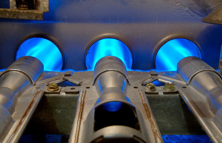 Inside Natural Gas Furnace-Talmich Plumbing & Heating Colorado Springs